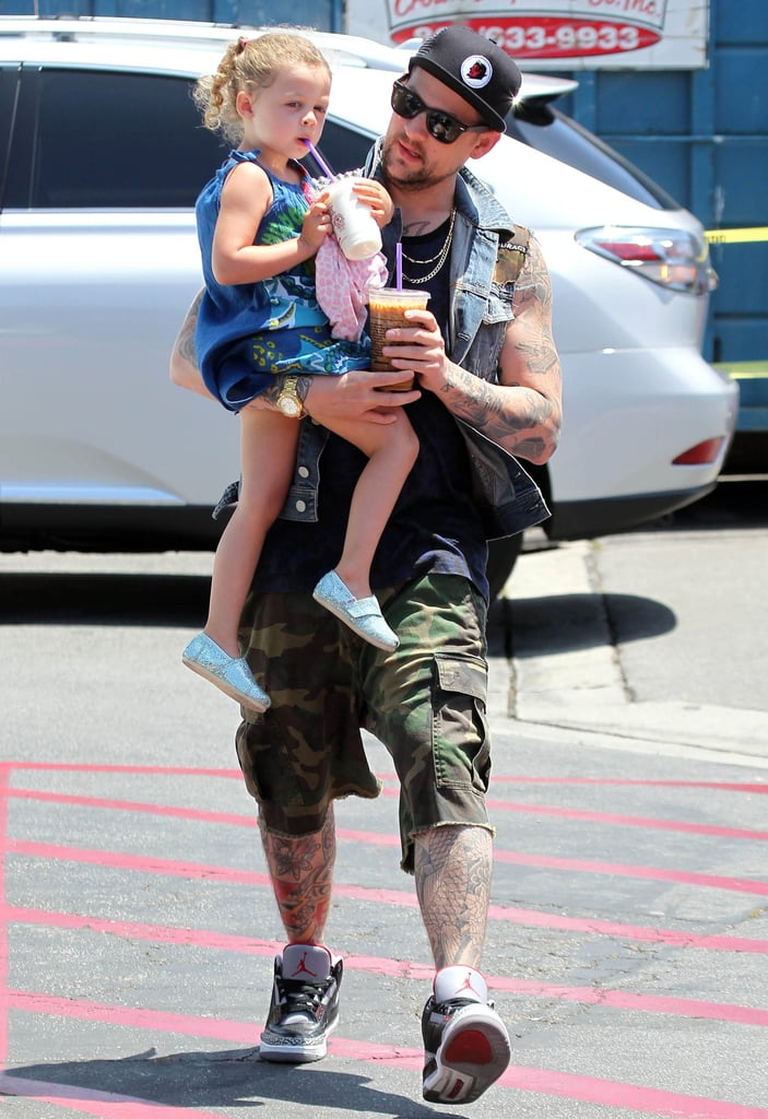Joel Madden took his daughter, Harlow Madden, to an LA Coffee Bean shop on Sunday.