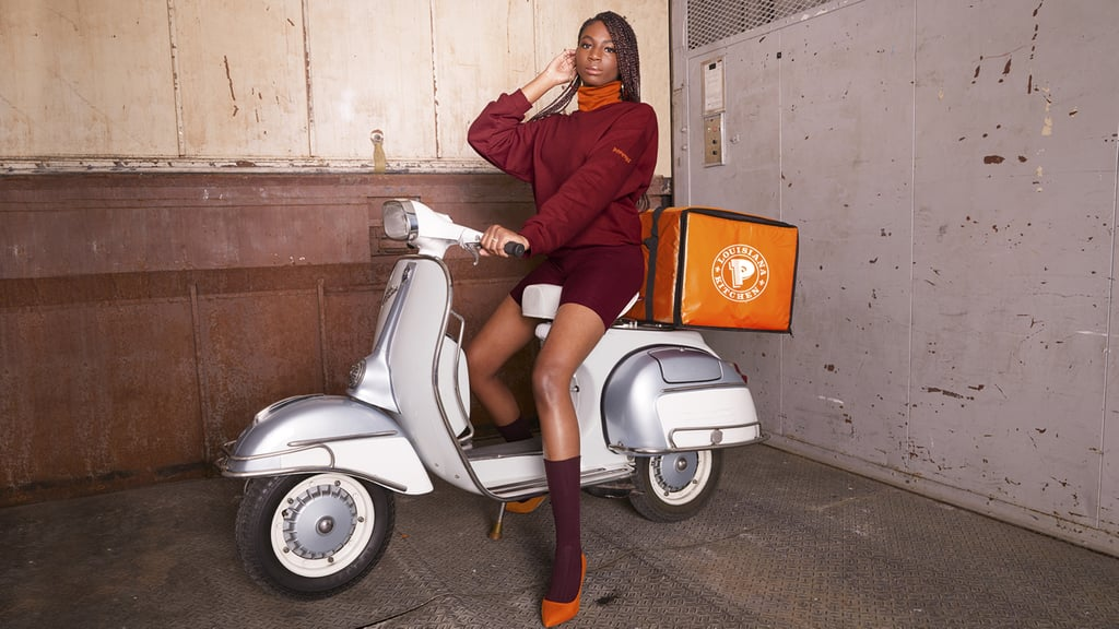 Does life imitate art? Or is it art that imitates life? Popeyes is addressing the philosophical query by selling its uniforms, which, it's been pointed out online, bear a striking resemblance to Beyoncé's recently released Ivy Park collection with Adidas. Given the response to the striking Ivy Park campaign imagery, the fast-food chain decided to produce a similar campaign for its That Look From Popeyes collection. Welcome to 2020.  So what exactly is Popeyes selling now, if not its perennially unavailable chicken sandwiches? There are half-zip tunics, sweatshirts, baseball caps, and more. Here's the kicker: it's expected that the majority of the Ivy Park collection would sell out within hours — which did indeed happen — but shoppers are apparently so enamored by that burgundy-and-orange color scheme that the Popeyes uniforms have also almost entirely sold out online. You cannot make this up. If you're still in disbelief, check out the matching campaigns ahead. We don't know if that'll necessarily dispel any confusion, but it'll at least be funny.      Related:                                                                                                           See Lizzo Throw It Back in Her New Ivy Park x Adidas Outfits Courtesy of Thee Beyoncé
