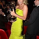 Julie Bowen held up her Emmy at the Governors Ball.