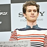 Andrew Garfield was on stage for the press conference for The Amazing Spider-Man in Japan.