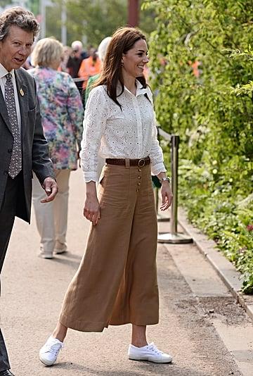 Kate Middleton Wears Wide-Leg Pants at Chelsea Flower Show
