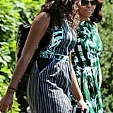 When Michelle and Sasha matched outfits as they headed out for a family vacation.
