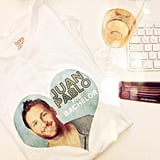 You know it was a good night when there's a Team Juan Pablo shirt and glass of champagne on your desk the next morning.