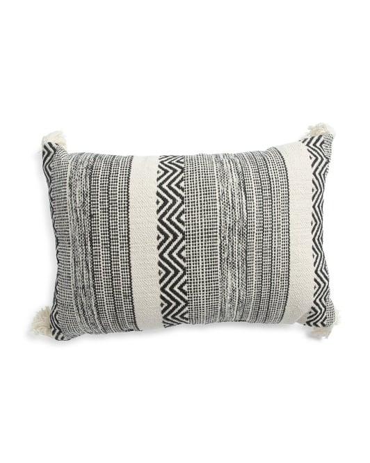 Made in India Saybrook Textured Pillow