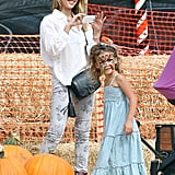 Jessica Alba spent time with daughter Honor Warren at the pumpkin patch.