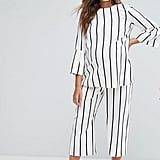 Asos Maternity Blurred Stripe Wide Leg Co-Ord, $68