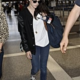 Kristen Stewart made her way through the LAX airport.