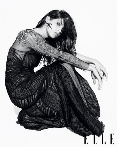 It would be safe to assume that a goth-inspired shoot for Twilight star Ashley Greene may be a little...obvious, but luckily, ELLE came up with the sultry goods for their August '10 issue. The beautiful brunette stars in a dark, moody, but oh-so-sexy photo shoot wearing fur by Balmain, python-print stockings by Gucci, a silk embellished gown by Alberta Ferretti and a stand-out lace cape dress by Alexander Wang. It's a far cry for Greene's usual girly style, but one which suits the part time-vampire well. I'm especially loving her obvious modelling skills, it's no wonder online retailer Asos chose her as the face of their new magazine. Click through our gallery for more gorgeous Greene, and check out ELLETV for a behind-the-scenes video from the shoot!