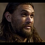Momoa's character is named Declan Harp, and he's intense.