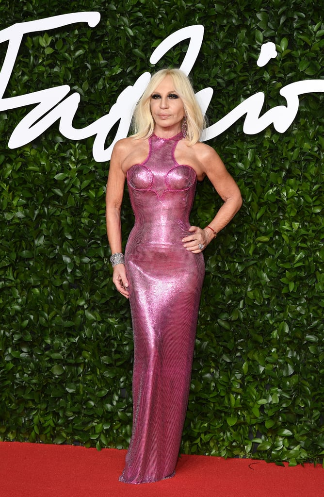 Donatella Versace at the British Fashion Awards 2019