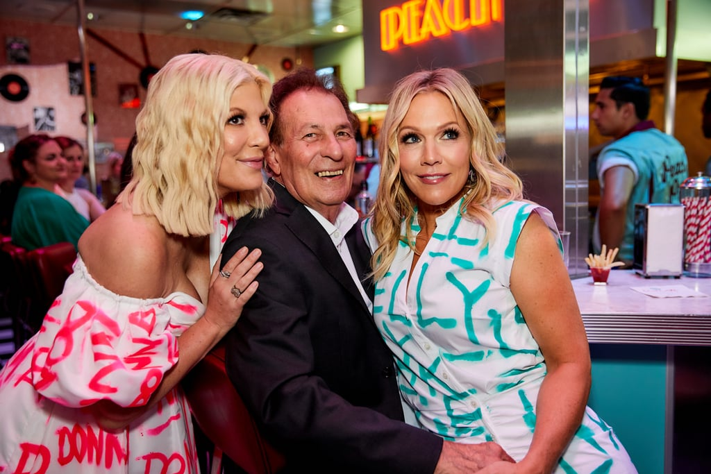 Tori Spelling, Joe E. Tata, and Jennie Garth