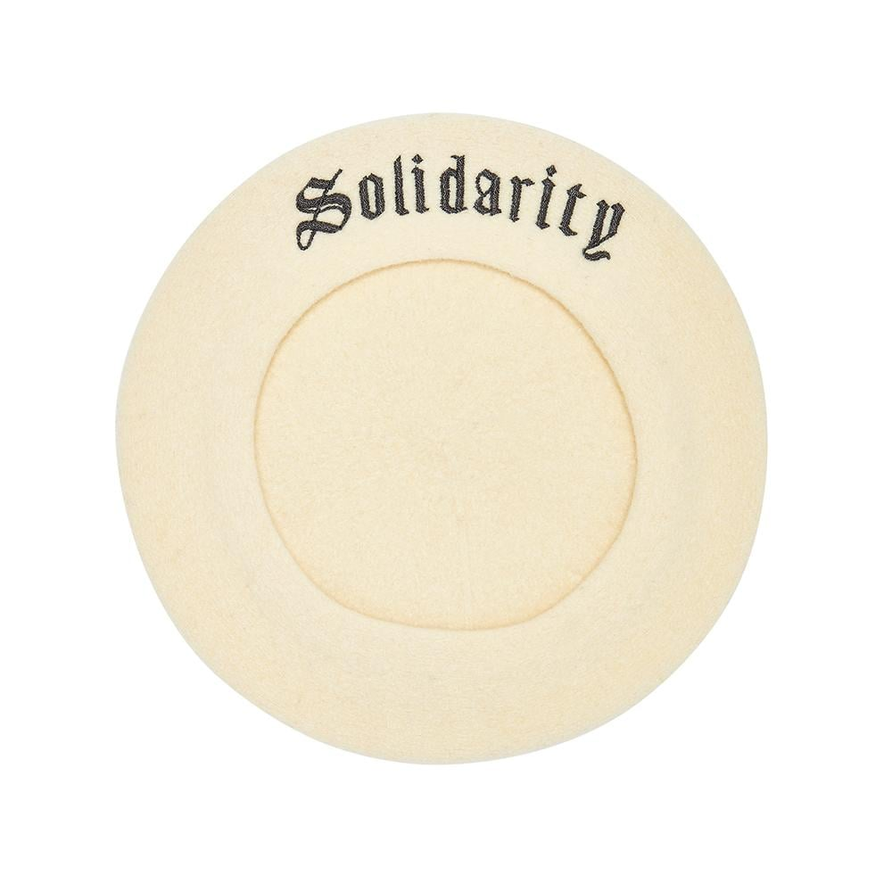 On the way to your next march? Complete your sartorial protest statement with this Itchy Scratchy Patchy White Solidarity Beret (£80, originally £100). The brand, founded by long-time friends and feminists model Edie Campbell and artist Christabel MacGreevy, has a lot to say in a very fashionable way.