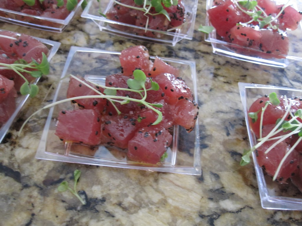 Tuna tartare was everywhere. This version was made by Sam Talbot.