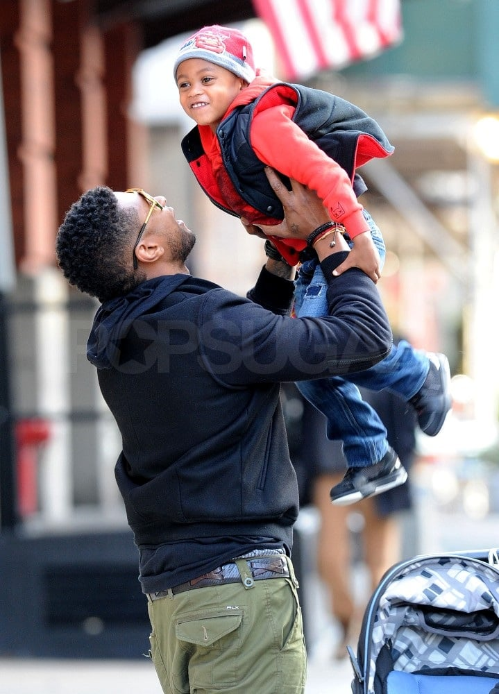Usher hung out with sons Naviyd and Cinco in NYC.