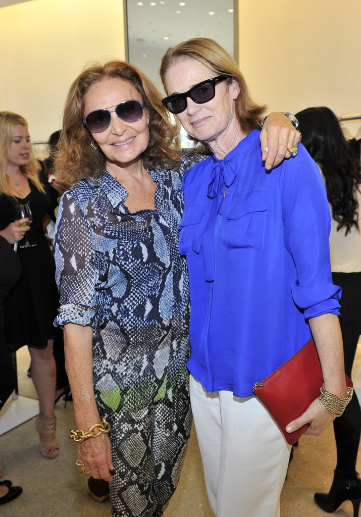 Diane von Furstenberg and Lisa Love at Diane von Furstenberg's tea and shopping event to benefit LACMA.  Source: Donato Sardella