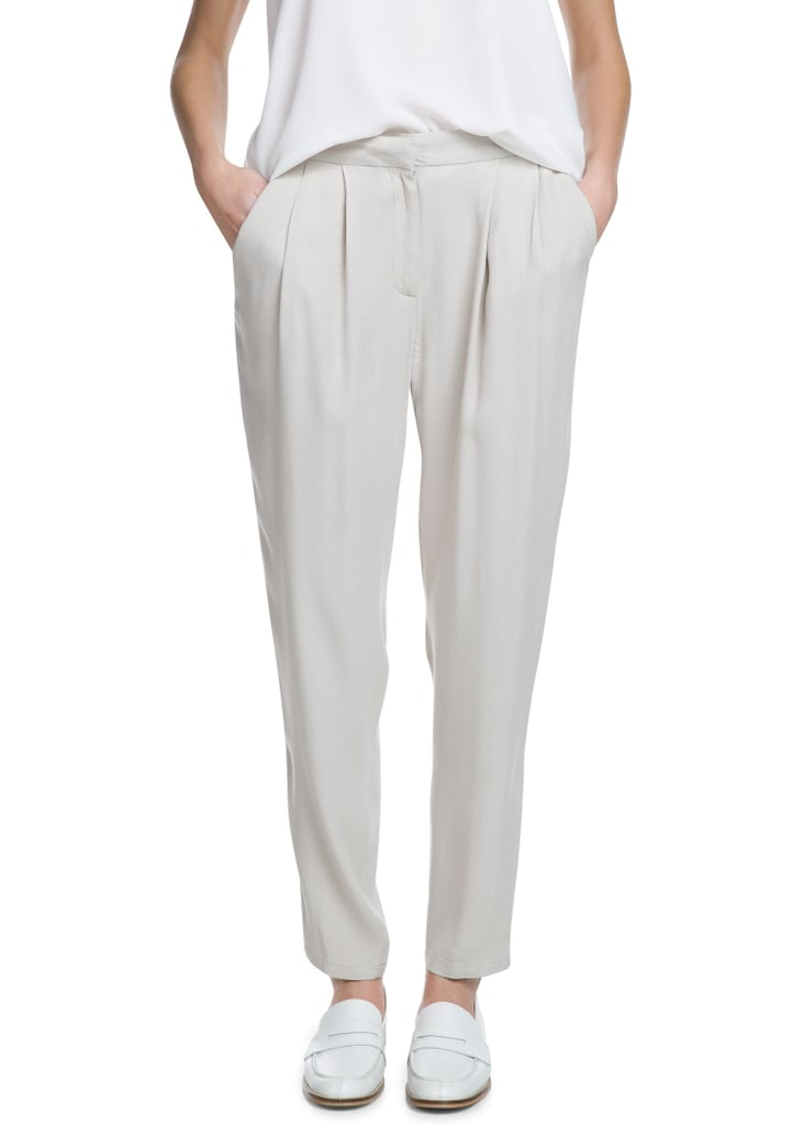 Mango White Crepe Baggy Trousers ($45)
