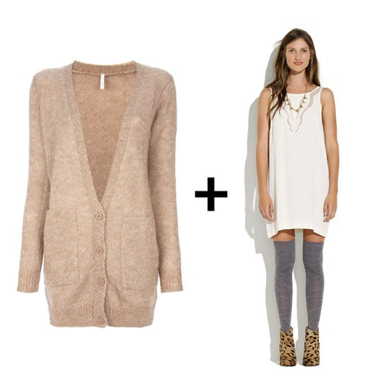 Although we're all about staying warm when the weather cools, we also believe firmly in looking cute while staying cozy. That's where slip dresses and sweaters come in. They've earned a reputation as one of our favorite Fall outfit combos, thanks to their one-part-sexy, one-part-comfy style formula. We start with a slinky slip dress underneath, then cover up with a perfect pullover or chunky cardigan to keep the chill at bay, giving us the best of both worlds — and what's better than that? Well, actually, it does get better: we've done the work (and the shopping) for you, with nine easy outfit combos to slip into right now — just click on.