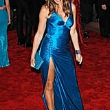 Cindy Crawford's Strappy Gown Doesn't Exactly Scream Soccer Mum