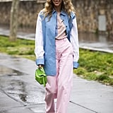 A neon bag makes any t-shirt outfit pop.