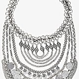 Gigi's Express Coin and Chain Bib Necklace