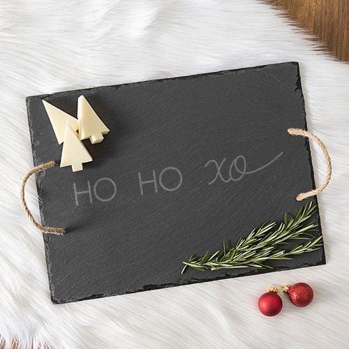 Ho Ho Xo Slate Serving Board