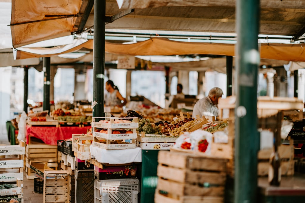 Browse the farmers market.