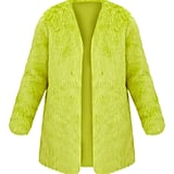 Lime Faux Fur Coat
