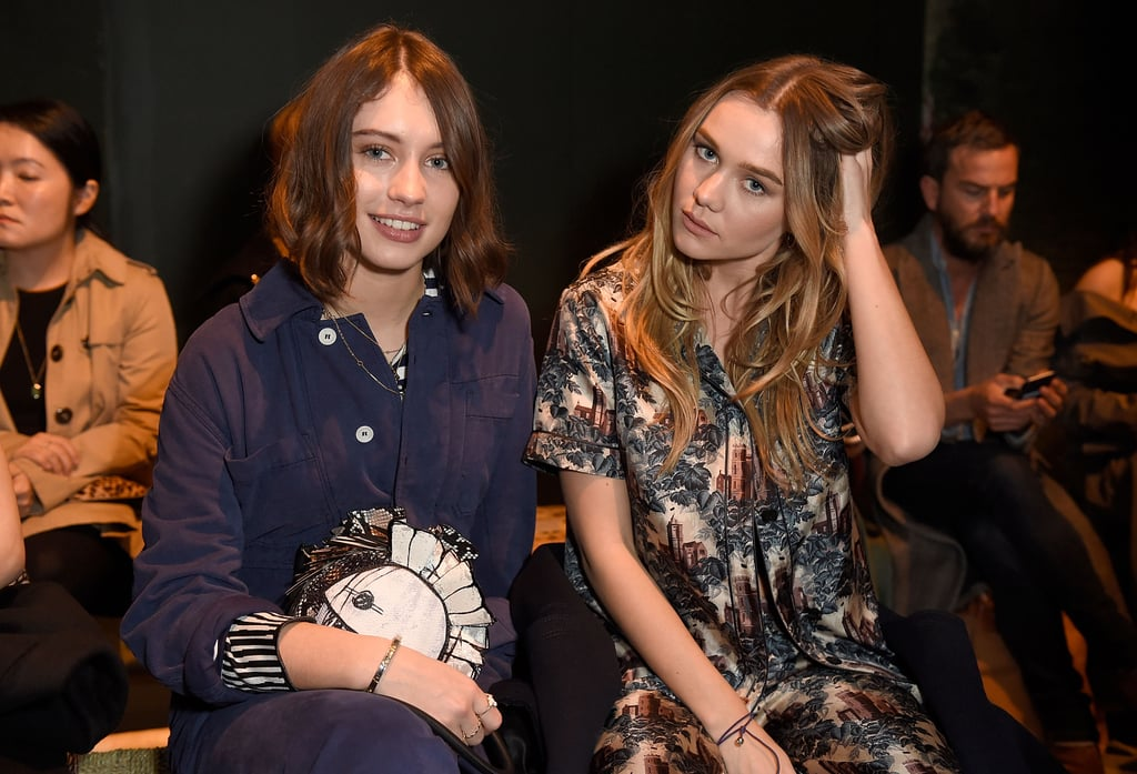 Iris Law and Immy Waterhouse at Burberry