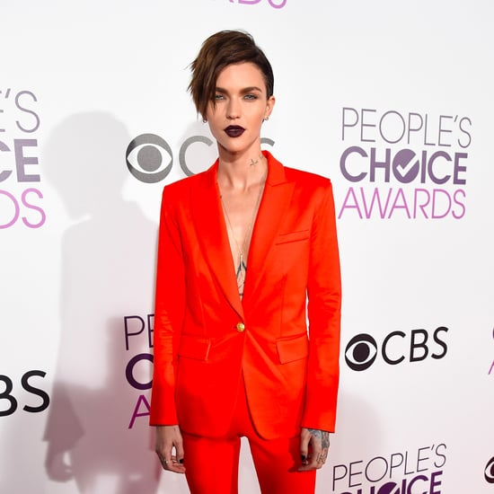 Ruby Rose Veronica Beard Suit at People's Choice Awards 2017