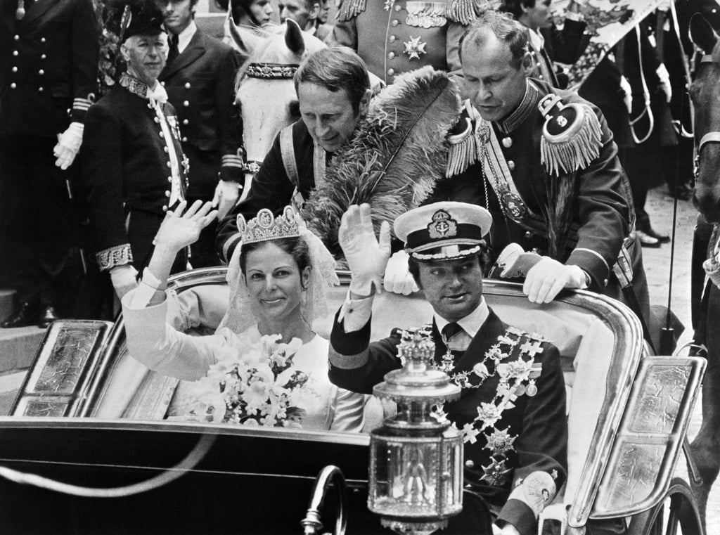King Carl XVI Gustaf and Silvia Sommerlath  The Bride: Silvia Sommerlath, a distant descendant of King Alfonso III of Portugal. She met the then-prince during the 1972 Summer Olympics in Munich. The Groom: King Carl XVI Gustaf of Sweden. When: June 19, 1976. It was the first wedding for a sitting monarch in Sweden since 1797. Where: Stockholm.