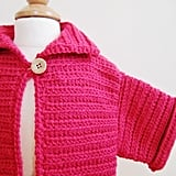 Crochet Honeysuckle Pink Sweater ($30)