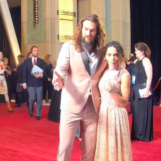 Jason Momoa and Lisa Bonet's Glambot Video at 2019 Oscars
