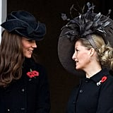 Kate Middleton and Sophie Rhys-Jones both wore fascinating fascinators on Remembrance Sunday.
