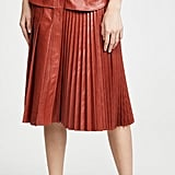 Faux Leather: Cedric Charlier Faux Leather Skirt