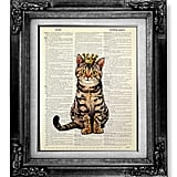 Tabby Cat Wall Art ($12)