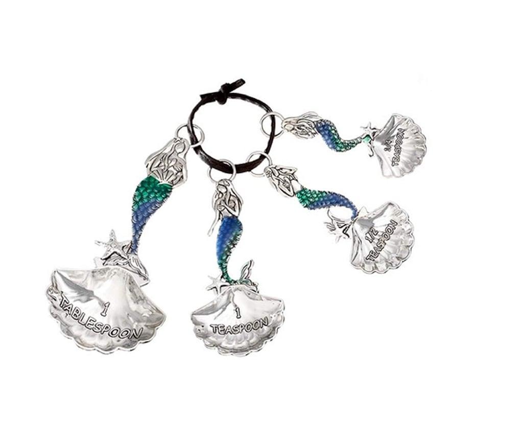 Ganz Silver Tone Mermaid Decorative Measuring Spoon Set