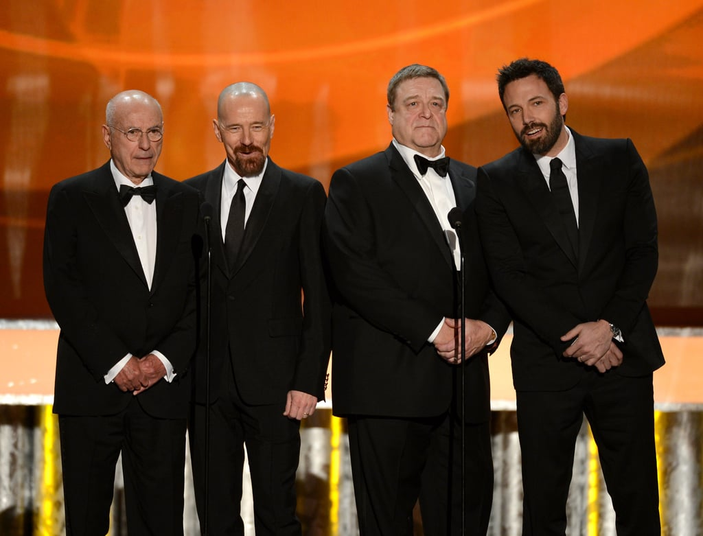 The cast members from Argo were together on stage.
