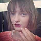 Rachel Zoe proved that the oxblood lip is still on trend for Fall 2013.