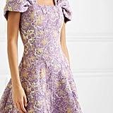 Rotate Birger Christensen Petra Off-the-Shoulder Floral-Jacquard Minidress