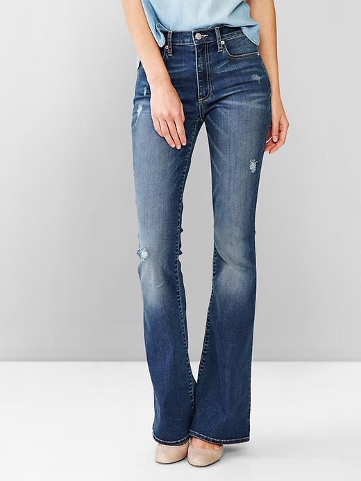 Gap 1969 Resolution Vintage Destructed Skinny Flare Jean ($80)