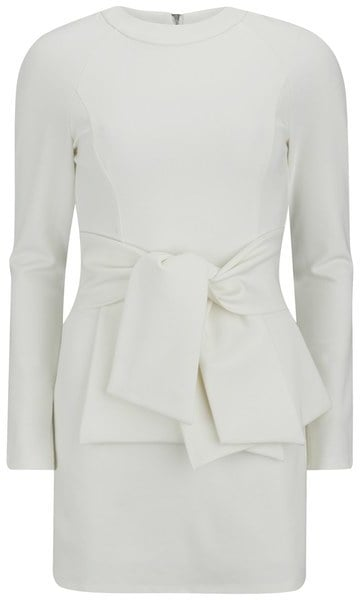 Lavish Alice Tie Front Dress White ($108)
