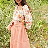 Gisela Gathered Sleeve Top in Floral ($145)