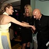 Ben Kingsley shook Diane Kruger's hand.