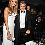 Stacy Keibler and George Clooney