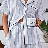 Madewell x Parachute Striped Oversized Pajama Shirt