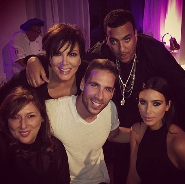 French posed for photos with the Kardashian family. Source: Instagram user krisjenner