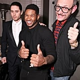 It was thumbs up time for Usher, Jared, Leo, Terry Richardson.