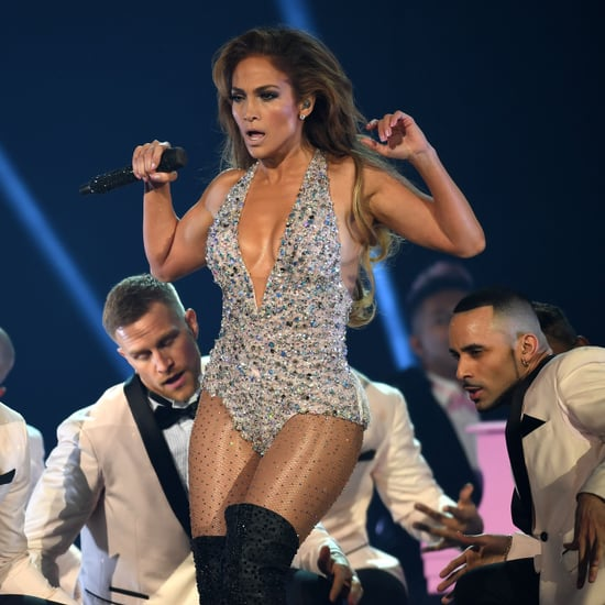 Jennifer Lopez Bedazzled Bodysuit at the 2019 Grammys