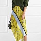 Self-Portrait Asymmetric Pleated Midi Skirt