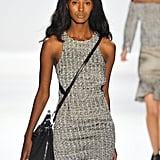 """Charlotte Ronson's collection was inspired by the ocean, which also served as a reference point for the beauty look. As key makeup artist Gilbert Soliz for Sephora PRO explained, the eye makeup played off the models themselves. """"A lot of the girls have bright blue eyes,"""" he said. """"Copper brings out the hue."""""""